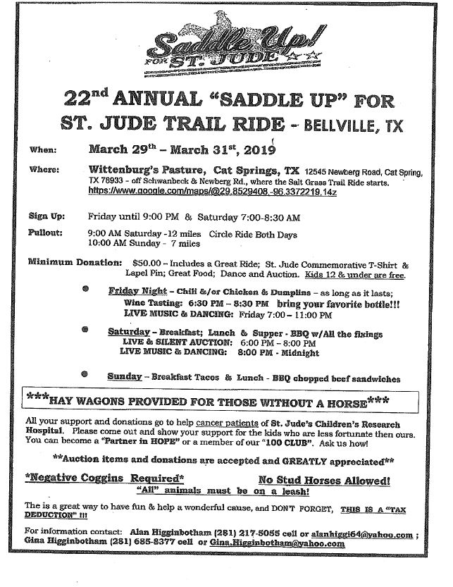 "Saddle Up"" for St  Jude Trail Ride – KTEX 106 1"