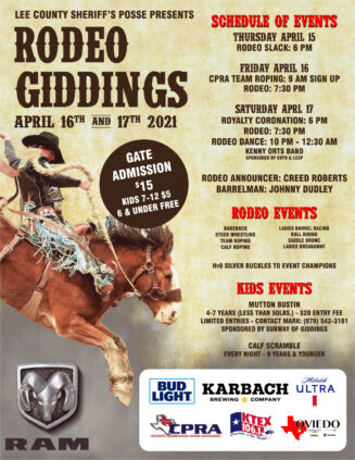 Lee County Sheriff's Posse – Rodeo Giddings